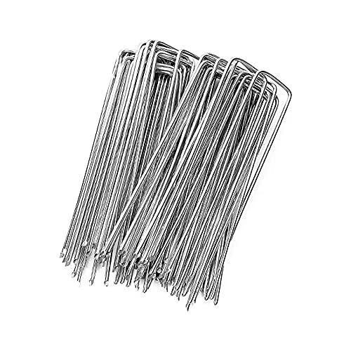 Pack grapas césped artificial, grapas para jardín, grapas de sujeción en forma de U, piquetas de sujeción para malla antihierbas (Pack 60 unidades)