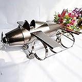 XUSHEN-HU Metal hélice motor aviones 3 botellas vino rack Decoraciones Art Craft Home