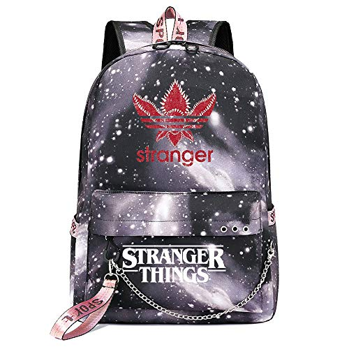 Stranger Things Backpack,Casual Laptop Rucksack Reverse World Monster Knapsack College Fashion School Bag 17 * 13 * 4inch Gray Galaxy