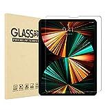 Protector de pantalla de cristal templado para iPad Pro de 12,9 pulgadas 2021/2020/2018 (5ª generación), compatible con Apple Pencil