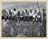 New York - Lunch on a Skyscraper - Mini Poster - Größe