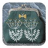Aros y marcos de punto de cruz Mujer Árbol de flores de estilo chino Vintage Hecho a mano Costura Monedero Monedero Pequeño DIY Bordado Monedero Set Regalo-9-,