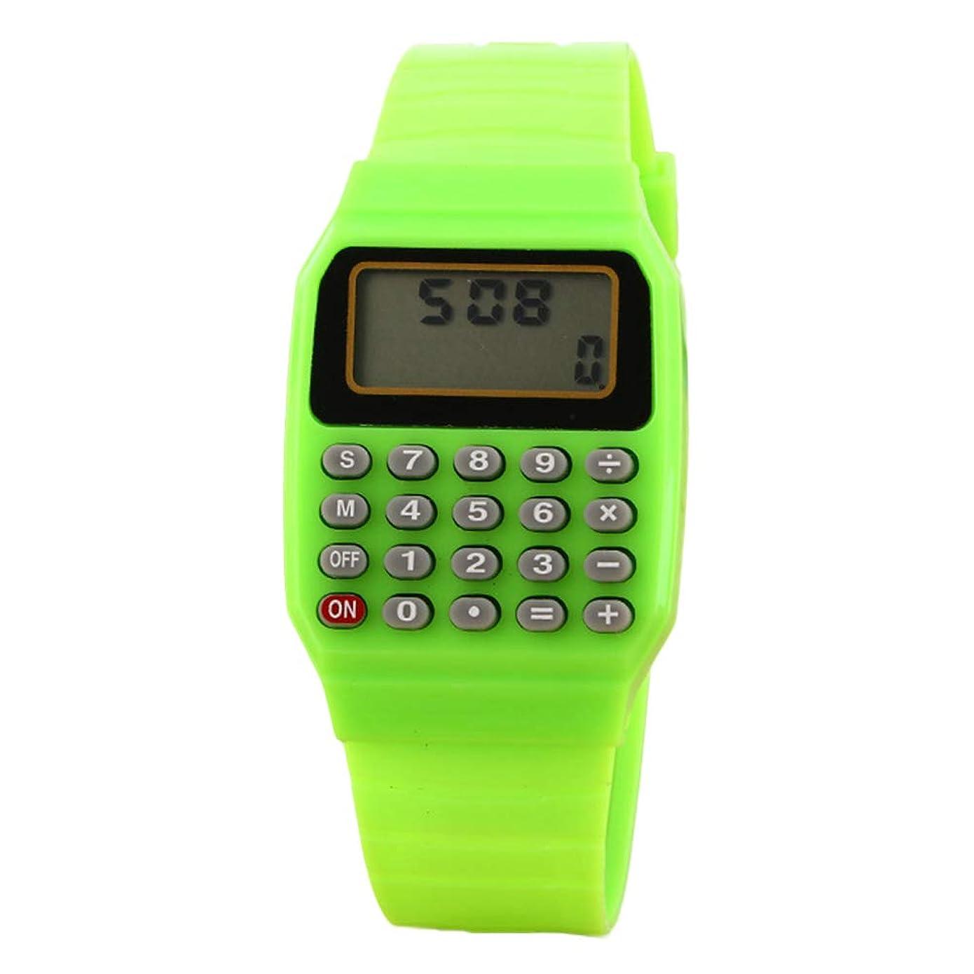 伝染性オフ取り消すZKxl8ca 子供用腕時計 デジタル 正方形 ミニ ポータブル 電卓 試験ツール キッズギフト