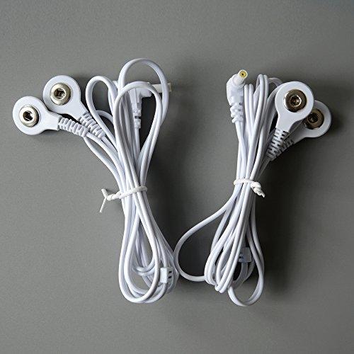 KONMED 1 Paar TENS-Kabel mit Klinke 2,35 mm Snap 3,5 mm Anschluss
