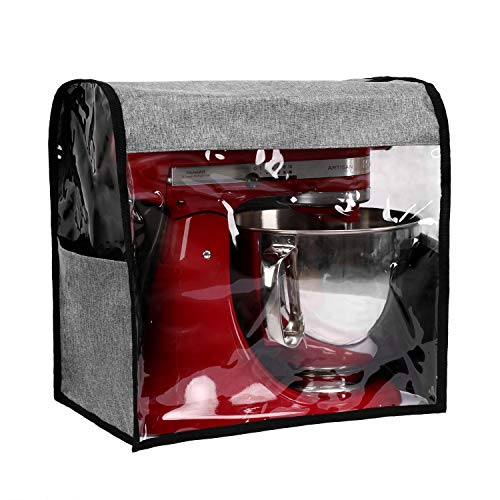 Akinerri Kitchen Aid Mixer Cover Stand Mixer Dust Proof Cover with Accessory Storage Pockets and Handles Kitchen Appliance Cloth Cover Organizer Bag Fits All Tilt Head & Bowl Lift Models