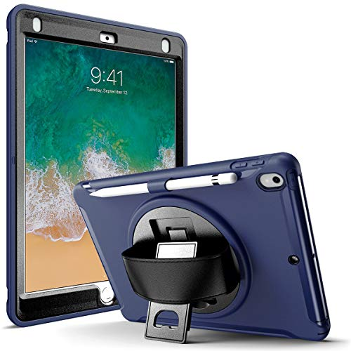 KARYLAX Complete Anti-Shock Case with Built-in Screen Protector, Front and Back Cover with Stand (Dark Blue) for Apple iPad Air 3rd Gen 10.5