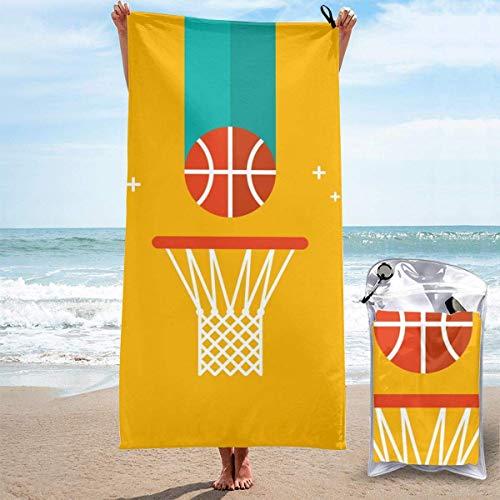 Lawenp Baloncesto Baloncesto Toalla de Playa Toalla de baño Estampado Toalla de Piscina Toalla de baño de Secado rápido para Despedida de Soltero 27.5 'X 51'