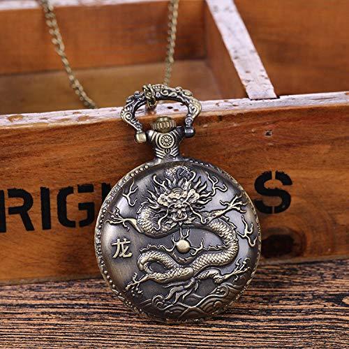 Nwarmsouth Enfermera Reloj de Bolsillo de Cuarzo,Reloj de Bolsillo de Bronce Vintage en Relieve, Reloj de Cuarzo con Forma de Concha de Cadena Colgante-3,Enfermera Prendedor Broche Reloj