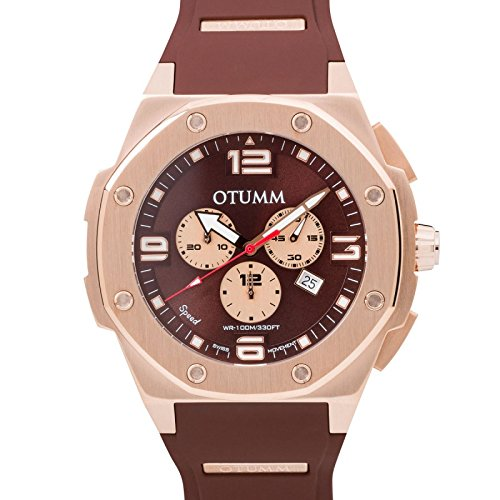 Otumm Speed Unisex Reloj Oro Rosa Chocolate 53mm Chronograph