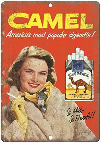 Placa de metal nostálgica para tabaco, diseño de camello, para bar, café, restaurante, dormitorio, garaje, club