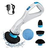 VINER Electric Spin Scrubber, Handheld Cordless High-Speed Spin Rechargeable Scrubber with 4 Replaceable Brush Heads for Cleaning Bathrooms, Kitchens, Windows