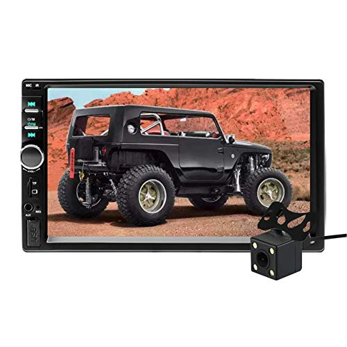 "Aigoss Autoradio mit Bluetooth Freisprecheinrichtung,2 Din 7"" Touchscreen Freisprech Radio MP5 Player mit Rückfahrkamera, Bluetooth/FM/USB/AUX/TF/Mirrorlink"
