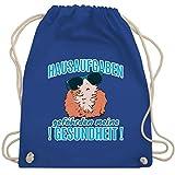 Shirtracer Einschulung und Schulanfang - Hausaufgaben gefährden meine Gesundheit Meerschweinchen - Unisize - Royalblau - Schule - WM110 - Turnbeutel und Stoffbeutel aus Baumwolle