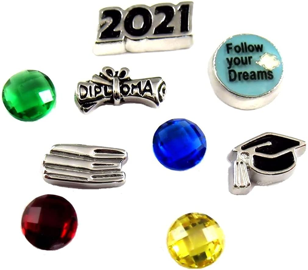 FCL Designs - Graduation 2021 Theme #2 Floating Charms Combination for Lockets