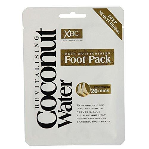 3 x XBC Xpel Body Care Treatment Deep Moisturising Revitalising Coconut Water Foot Pack