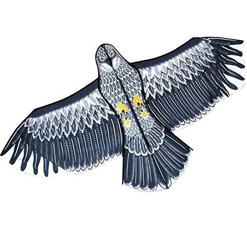 Émulation extérieure Flying Hawk Bird Scarer Drive Bird Kite Light Weight Facile à assembler Bird Kite for Garden Scarecrow Yard Home Farm