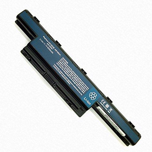 Batería Nueva y Compatible para Portátiles Acer Packard Bell eMachines Gateway Series AS10D51 AS10D31 AS10D3E AS10D41 AS10D61 Listados en Descripción Li-Ion 11,1v 5200mAh 6 Celdas