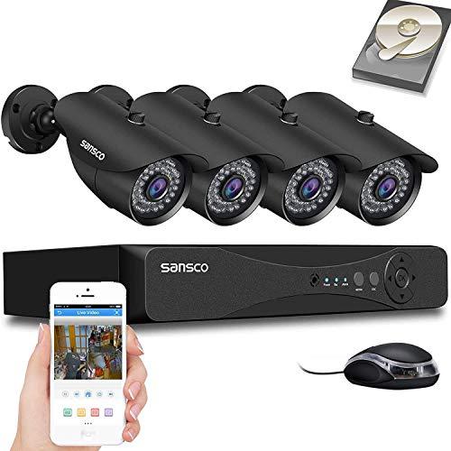 [TRUE 1080p] SANSCO HD CCTV Camera System, 4 Channel 5MP...