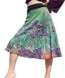 RaanPahMuang Vincent Van Gogh Irises 3/4 Length Patch Skirt, X-Large