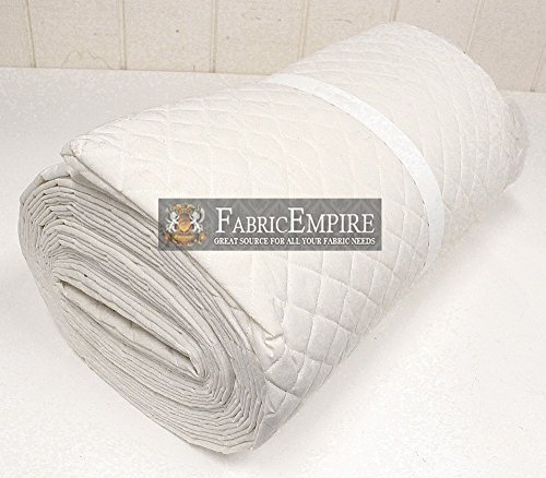 Muslin Fabric Natural Single Face Quilted Diamond 42/43