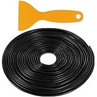 Rovtop 10M Protección de goma de puerta de coche Protección de frontera Cinturón para evitar arañazos Marco de puerta de metal Junta de goma de goma (negro)
