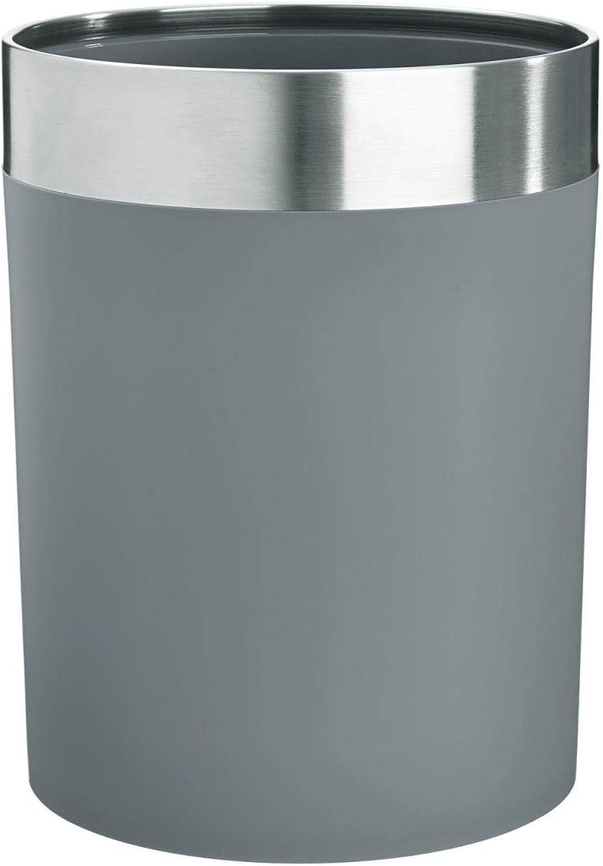 Papierkorb mit Edelstahlring, 6.4l, 19.4x25cm (DxH), grau silber, 1 Beutel Stück B072JJZPS4   Maßstab ist der Grundstein, Qualität ist Säulenbalken, Preis ist Leiter