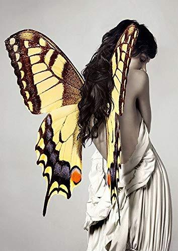 Keilrahmen-Bild – Julian Lauren: Winged Beauty III Leinwandbild Frau Mädchen Flügel modern