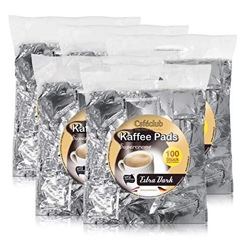 5x Cafeclub Extra Dark Kaffeepads Megabeutel je 100 stk. dunkle Röstung einzeln verpackt