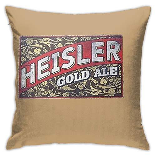 Guduss Heisler Bier-Kissenbezug, quadratisch, für Sofa, Couch, Auto, Bett, Zuhause, dekorativ, 45,7 x 45,7 cm