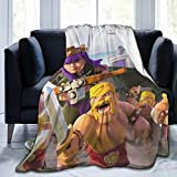 DISGOWONG Cla-sh of cl-ans Blanket Fleece Blanket Throw Extra Soft 3D Fashion Print Perfect for Couch Bed Sofa All Season for Kids Teenager 50'×40'