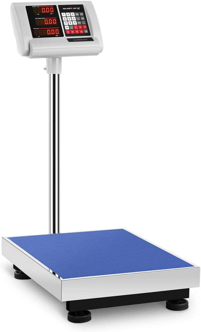 Steinberg Systems Báscula De Plataforma Bascula Industrial de Suelo SBS-PF-300/50A (300 kg / 50 g, Superficie Pesaje 40 x 50 cm)