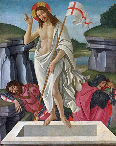 A Ressurreição (1490) de Sandro Botticelli - 60x76 - Tela Canvas Para Quadro