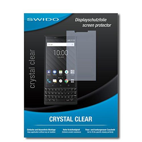 SWIDO Schutzfolie für BlackBerry Key2 [2 Stück] Kristall-Klar, Hoher Festigkeitgrad, Schutz vor Öl, Staub & Kratzer/Glasfolie, Bildschirmschutz, Bildschirmschutzfolie, Panzerglas-Folie