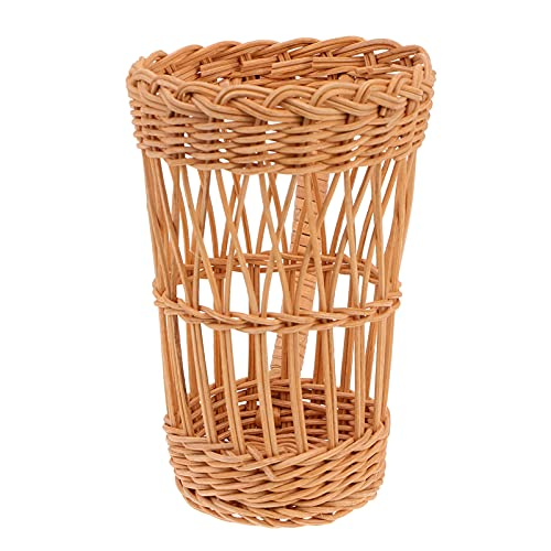 Cabilock Coffee Cup Insulator Sleeve Rattan Woven Sleeves Cup Cover with Handle for Cold and Hot Beverage