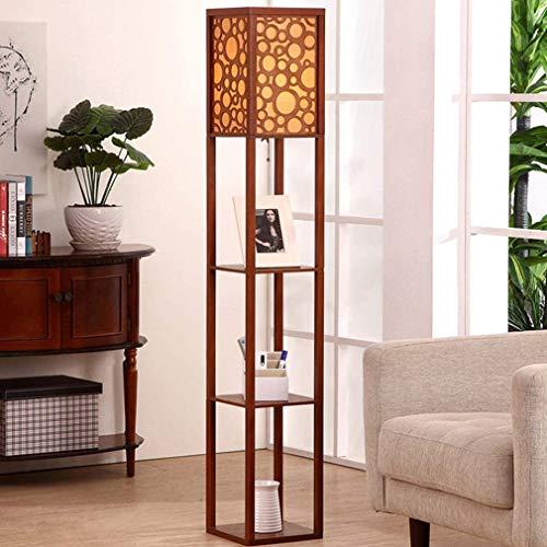 Lámpara de pie LED con balda lámpara de pie Interior E27 60Wcolocable26 * 26 cm 160para Estudio de dormitorioD