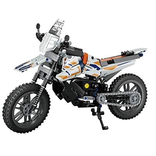 Lommer Technik Motorrad, 434 Klemmbausteine Technik Mountainbike Rennen Motorrad Modell, Bausteine Bausatz Kompatibel mit Lego Technic