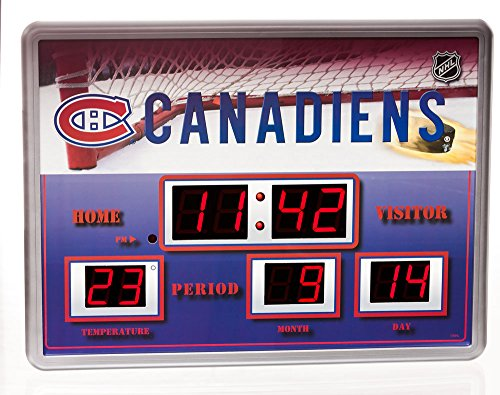 Team Sports America Montreal Canadiens Scoreboard Wall Clock