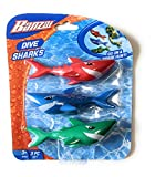 Funstuff 3pc Dive Sharks Pool Toy   Shark Pool Toys   Underwater Torpedo   Great Watertoy for Kids
