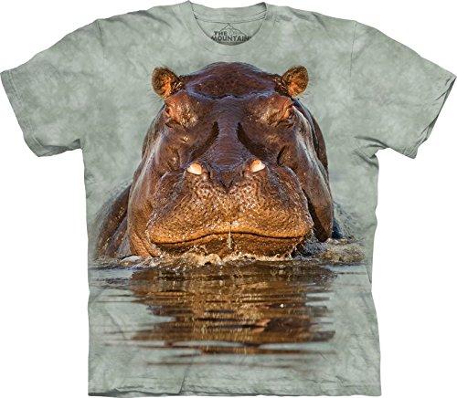 The Mountain Camiseta Hippo para hombre - verde - 3X-Large