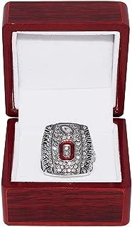 OHIO STATE UNIVERSITY BUCKEYES (Cardale Jones) 2014 BIG TEN CHAMPIONS (Vs, Wisconsin Badgers) OSU Collectible Replica NCAA Football Silver Championship Ring with Cherrywood Display Box