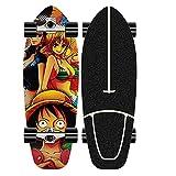 XKAI Surf Skateboard Principiantes Carver Deck 75 * 23cm Surfskate Completo Pumping Fancy Board Cruiser Adultos CX4 Truck Maple Longboard Tabla Niños Adolescentes Skate, ABEC-11 Rodamientos
