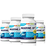 Marine Essentials-Marine D3'Improved Capsule Formula' Super Antioxidant Omega 3 Anti-Aging Calamari Seanol-P DHA (240 Capsules)