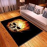 LGXINGLIyidian Casa Tappeto Creative Dark Demon Skull Series Tappeto Morbido Antiscivolo per La Decorazione della Casa con Stampa 3D T-477K 120X180Cm