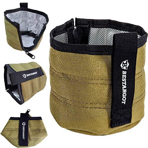 Bestargot Cup Insulator Camping Verwendung, Wärmeisolierung Anti-Verbrühung und Warmhalten, tragbare Faltung und Verdickung, für Titan Edelstahl Cup Pot Mug, Camping Essential