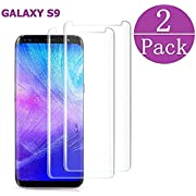 hairbowsales Compatible[2 - Pack] Samsung Galaxy Tempered Glass S9 Screen Protector, hairbowsales - [9H Hardness][nti-Fingerprint][Ultra-Clear][Bubble Free] Screen Protector Compatible Galaxy S9