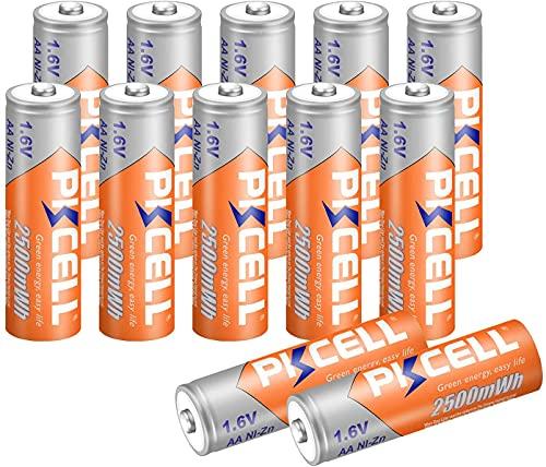 batterie AA ricaricabili NIzn 1.6 Volt 2500 mWh