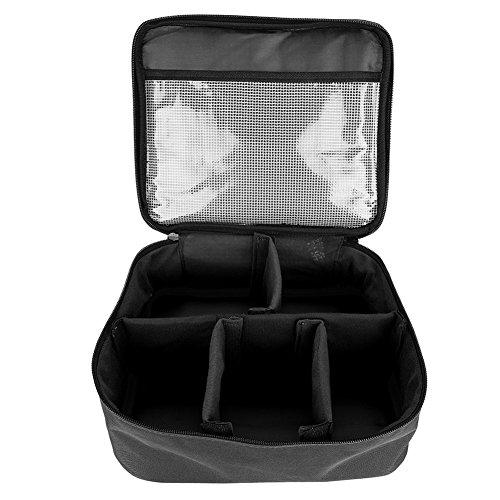 Grand sac de maquillage, organisateur de maquillage cosmétique de sac de stockage de voyage de fermeture éclair portative élégante de mode (Color : Black String Bag)