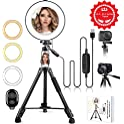 "Hqoon 10"" LED Ring Light with Stand"