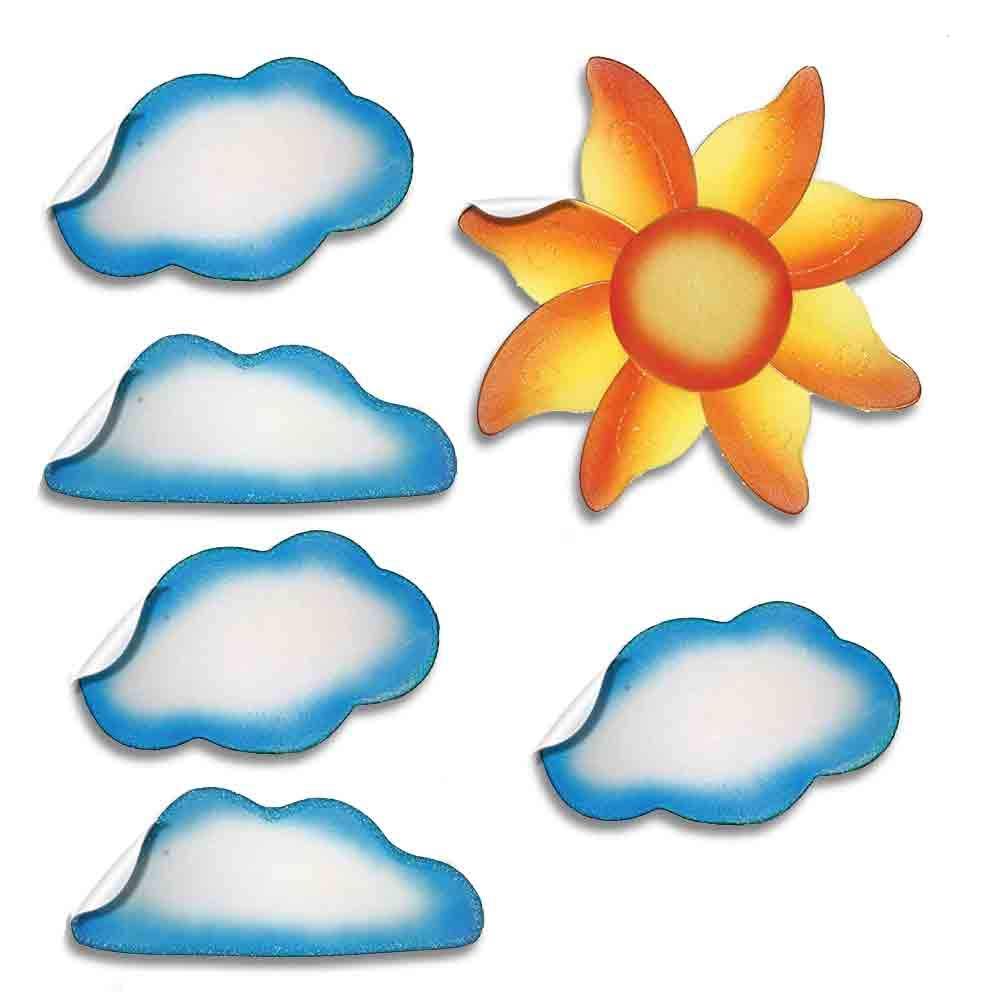 Amazon.com Sun Cloud Wall Decal Stickers Clouds Sky Mural Vinyl ...