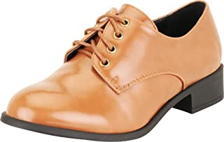 Cambridge Select Women's Classic Lace-Up Chunky Block Low Heel Oxford